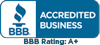 BBB Accredited Business - BBB Rating A+